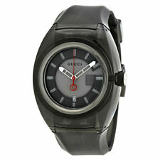 New Gucci Sync XXL YA137111 Black/Gray Rubber Band Gray Dial Unisex Watch
