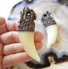 Chinese Dragon Claw Horn Pendant Resin, Large Big Hole Pendant Bead, 1 Pendant