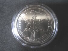 2011 Canada 25 Cents PL  snowflake coin-Happy Holiday   Low mintage