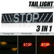 Motorcycle LED Integrated Tail Brake Stop Turn Signal Running Strip Plate Light