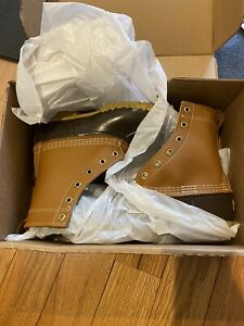 """LL BEAN 8"""" Thinsulate Lined Brown Leather Boots Winter Snow Women's Size 6 M"""