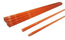 Pack of 10 Driveway Markers 48 inches, 5/16 inch for Lawn, Yard, Grass Drive Way