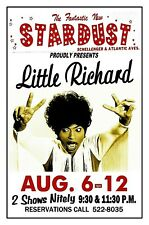 LITTLE RICHARD 1970 Wildwood NJ STARDUST CLUB POSTER by THouse 2019