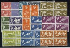 SOUTH GEORGIA 1963-69 DEFINITIVES SG1/16 BLOCKS OF 4 MNH