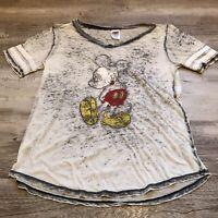 Disney Mickey Mouse Sheer V-Neck T-Shirt Women's Size XL