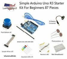 Simple Arduino Uno R3 Starter Kit For Beginners 86 Pieces - US Seller
