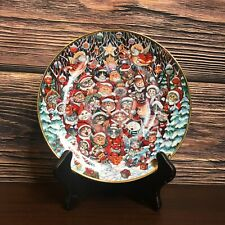 """Franklin Mint """"Santa Paws� Cat Kitten Collector Plate Bill Bell Limited Edition"""