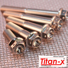 M8 Titanium Hex Drilled Head Flange Bolt, 15mm to 100mm length 1.25 thread pitch