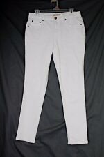 EARL JEANS Slim Ankle Jeans Size 6 White Cotton Stretch Mid Rise 5 Pocket