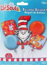 Dr. Seuss Birthday Party Favor Supplies 5CT Foil Balloons Bouquet