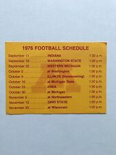 CFB 1976 MINNESOTA GOPHERS Football Schedule College FB