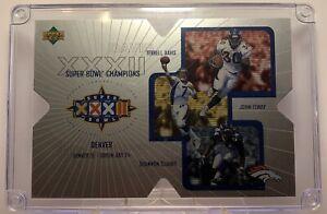 1998 Super Bowl XXXII Champions Upper Deck Jumbo Broncos Elway Davis /10000