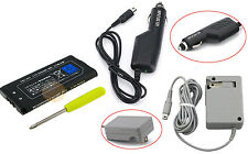AC Home Wall + DC Car Charger + 3.7V Battery + Screwdriver Tool For Nintendo DSi