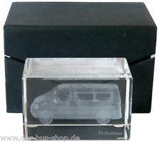 VW Bus T5 - Multivan - Briefbeschwerer - Glasblock im Laser-Innengravur