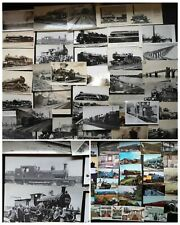 More details for lot of 130+ vintage railway colour & b/w postcards 1940's - 1990's