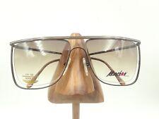 10c5f7839c Vintage Marchon 7801 Brown Metal Square Oversized Brow Sunglasses Frames  Japan
