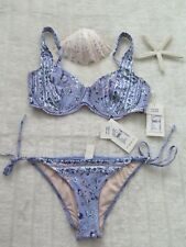 Milea by Seafolly Australia 12D Renaissance Soft D Cup & Tie Side Pant Soft Blue
