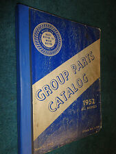 1952 HUDSON PARTS CATALOG  / ORIGINAL BODY & CHASSIS PARTS BOOK!!
