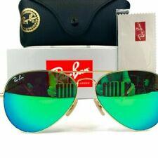 Ray Ban Aviator Pilot Green Flash Sunglasses RB3025 112/19 58mm **US Seller