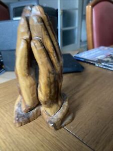 Wooden Clasped Hands