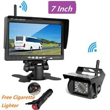 7-Inch HD TFT LCD Widescreen Monitor with 2.4GHz Wireless Receiver Backup Camera