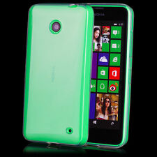 Custodia Cover Case MORBIDA TRASPARENTE per Nokia Lumia 630 Gomma Silicone TPU