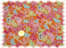 So cute Butterfly Baumwolle Webware orange 50 cm Schmetterlinge Stoff nähen