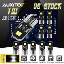10X T10 LED License Plate Light Bulb Tag Lamp 194 168 2825 W5W White 6000K 12V