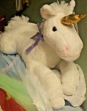 Large White UNICORN Plush Toy Stuffed Animal Doll Pillow NWT FREE WORLD SHIPPING