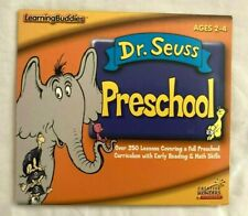DR SEUSS PRESCHOOL CD ROM AGES 2-4 Education Software 250 Lesson Maths Reading