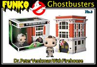 Funko Pop Town Ghostbusters No. 3: Dr. Peter Venkman & Firehouse Action Figure