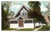 1922 Episcopal Church, Onaway, MI Postcard