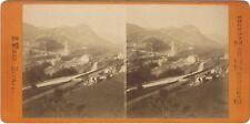 Lourdes Pèlerinages France Photo Viron Stereo N12 Vintage Albumine ca 1870
