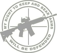 Right To Keep & Bear Arms AR 15 SIG Guns 4X4 Decal Funny 2A Smith Ammo YETI mud