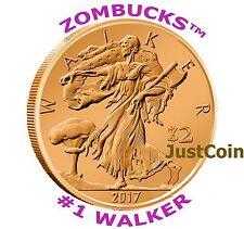 2013 WALKER ZOMBUCKS™ COPPER BULLION 1 AVDP OZ .999 FINE COPPER ROUND Z2