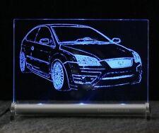 Ford Focus ST AutoGravur auf LED-LeuchtSchild rallye
