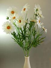 Three stems of Artificial Silk White Daisy Sprays