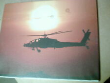 Sunset Helicopter War Canvas Print Picture