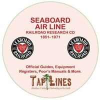 SEABOARD AIR LINE - GUIDES & REGISTERS & HISTORICAL RESEARCH SCANNED TO DVD