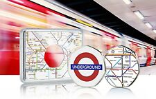 More details for london underground official silver commemorative in case. subway/tube. colour