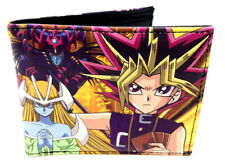 YUGIOH YUGI MUTO DECK SUBLIMATED GRAPHIC PRINT FAUX LEATHER BIFOLD MENS WALLET