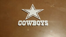 Dallas Cowboys 5 x 5 White Car Decal Sticker