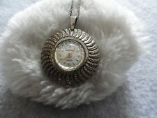Swiss Made Impex Vintage Wind Up Necklace Pendant Watch - Not Working