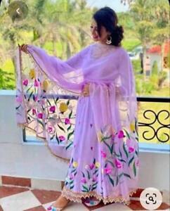 Women Salwar Kameez Anarkali Designer Dupatta Flared Kurta Kurti Scarf New Combo