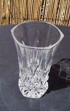 SIX SIDED ITALIAN 24 % LEAD CRYSTAL CUT GLASS VASE BY CAPRI 13 CM TALL