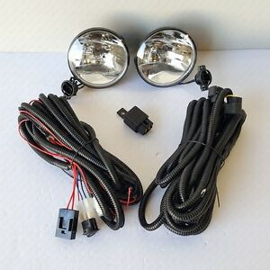 For 2007-2009 Ford Mustang Shelby GT500 Clear Fog Lights Kit with Switch Bulbs