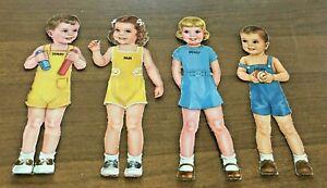 Rare Vintage Original 1940s Nursery School Paper Dolls Queen Holden