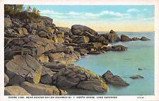 Postcard MN Lake Superior Beaver Bay Shoreline Hwy 1 Vintage Minnesota PC