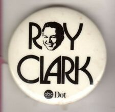 ROY CLARK OPRY COUNTRY MUSIC HALL OF FAME BANJO HEE HAW HILLBILLY BUTTON PINBACK