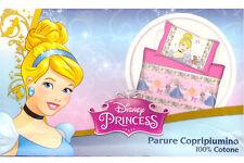 Parure Copripiumino Letto Singolo 1 Piazza Principesse Disney 100% Cotone
